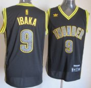 Wholesale Cheap Oklahoma City Thunder #9 Serge Ibaka Black Electricity Fashion Jersey