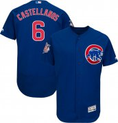 Wholesale Cheap Cubs #6 Nicholas Castellanos Blue Flexbase Authentic Collection Stitched MLB Jersey