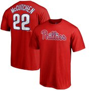 Wholesale Cheap Philadelphia Phillies #22 Andrew McCutchen Majestic Official Name & Number T-Shirt Red