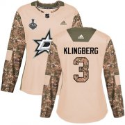 Cheap Adidas Stars #3 John Klingberg Camo Authentic 2017 Veterans Day Women's 2020 Stanley Cup Final Stitched NHL Jersey