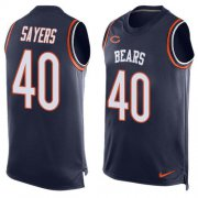 Wholesale Cheap Nike Bears #40 Gale Sayers Navy Blue Team Color Men's Stitched NFL Limited Tank Top Jersey