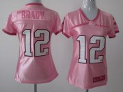 Wholesale Cheap Nike Patriots #12 Tom Brady Pink Women's Be Luv'd Stitched NFL Elite Jersey