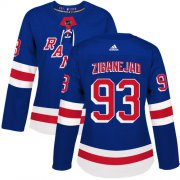 Wholesale Cheap Adidas Rangers #93 Mika Zibanejad Royal Blue Home Authentic Women's Stitched NHL Jersey