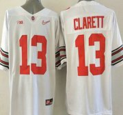 Wholesale Cheap Ohio State Buckeyes #13 Maurice Clarett White Diamond Quest College Football Nike Limited Jersey