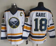 Wholesale Sabres #18 Danny Gare White CCM Throwback Stitched NHL Jersey