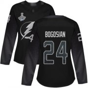 Cheap Adidas Lightning #24 Zach Bogosian Black Alternate Authentic Women's 2020 Stanley Cup Champions Stitched NHL Jersey