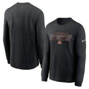Wholesale Cheap Cincinnati Bengals Nike Fan Gear Playbook Long Sleeve T-Shirt Black