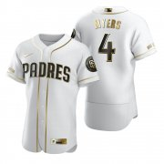 Wholesale Cheap San Diego Padres #4 Wil Myers White Nike Men's Authentic Golden Edition MLB Jersey