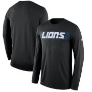 Wholesale Cheap Detroit Lions Nike Sideline Seismic Legend Long Sleeve T-Shirt Black