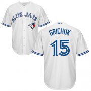 Wholesale Cheap Blue Jays #15 Randal Grichuk White New Cool Base Stitched MLB Jersey