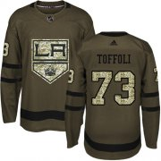 Wholesale Cheap Adidas Kings #73 Tyler Toffoli Green Salute to Service Stitched Youth NHL Jersey