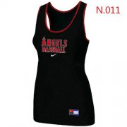Wholesale Cheap Women's Nike Los Angeles Angels Tri-Blend Racerback Stretch Tank Top Black