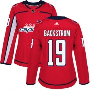 Wholesale Cheap Adidas Capitals #19 Nicklas Backstrom Red Home Authentic Women's Stitched NHL Jersey