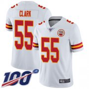 Wholesale Cheap Nike Chiefs #55 Frank Clark White Men's Stitched NFL 100th Season Vapor Limited Jersey