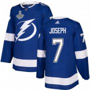 Cheap Adidas Lightning #7 Mathieu Joseph Blue Home Authentic Youth 2020 Stanley Cup Champions Stitched NHL Jersey
