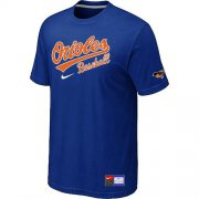 Wholesale Cheap Baltimore Orioles Nike Short Sleeve Practice MLB T-Shirt Blue
