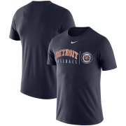 Wholesale Cheap Detroit Tigers Nike MLB Team Logo Practice T-Shirt Navy