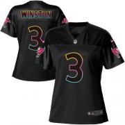 Wholesale Cheap Nike Buccaneers #3 Jameis Winston Black Women's NFL Fashion Game Jersey