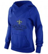 Wholesale Cheap Women's New Orleans Saints Big & Tall Critical Victory Pullover Hoodie Blue