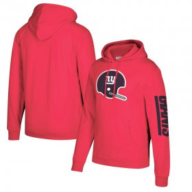 Wholesale Cheap New York Giants Mitchell & Ness Classic Team Pullover Hoodie Red