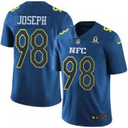 Wholesale Cheap Nike Vikings #98 Linval Joseph Navy Youth Stitched NFL Limited NFC 2017 Pro Bowl Jersey