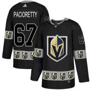 Wholesale Cheap Adidas Golden Knights #67 Max Pacioretty Black Authentic Team Logo Fashion Stitched NHL Jersey