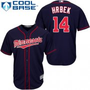 Wholesale Cheap Twins #14 Kent Hrbek Navy blue Cool Base Stitched Youth MLB Jersey