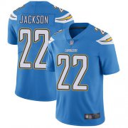Wholesale Cheap Nike Chargers #22 Justin Jackson Electric Blue Alternate Men's Stitched NFL Vapor Untouchable Limited Jersey