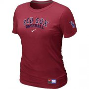 Wholesale Cheap Women's Boston Red Sox Nike Short Sleeve Practice MLB T-Shirt Red