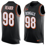 Wholesale Cheap Nike Bengals #98 D.J. Reader Black Team Color Men's Stitched NFL Limited Tank Top Jersey
