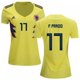 Wholesale Cheap Women\'s Colombia #17 F.Pardo Home Soccer Country Jersey