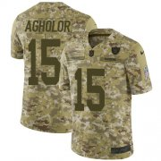 Wholesale Cheap Nike Raiders #15 Nelson Agholor Camo Men's Stitched NFL Limited 2018 Salute To Service Jersey
