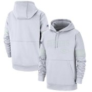Wholesale Cheap Green Bay Packers Nike NFL 100 2019 Sideline Platinum Therma Pullover Hoodie White