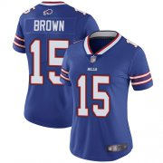 Wholesale Cheap Nike Bills #15 John Brown Royal Blue Team Color Women's Stitched NFL Vapor Untouchable Limited Jersey