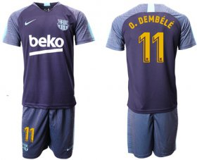 Wholesale Cheap Barcelona #11 O.Dembele Blue Soccer Club Jersey