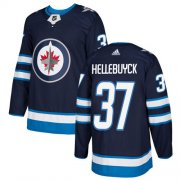 Wholesale Cheap Adidas Jets #37 Connor Hellebuyck Navy Blue Home Authentic Stitched Youth NHL Jersey