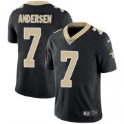 Wholesale Cheap Nike Saints #7 Morten Andersen Black Team Color Men's Stitched NFL Vapor Untouchable Limited Jersey