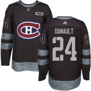 Wholesale Cheap Adidas Canadiens #24 Phillip Danault Black 1917-2017 100th Anniversary Stitched NHL Jersey
