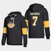 Wholesale Cheap Los Angeles Kings #7 Oscar Fantenberg Black adidas Lace-Up Pullover Hoodie