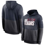 Wholesale Cheap Houston Texans Nike Sideline Impact Lockup Performance Pullover Hoodie Navy Charcoal