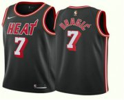 Wholesale Cheap Men's Miami Heat #7 Goran Dragic Black 2017-2018 Nike Stitched Throwback Swingman Jersey