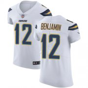Wholesale Cheap Nike Chargers #12 Travis Benjamin White Men's Stitched NFL Vapor Untouchable Elite Jersey