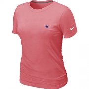 Wholesale Cheap Women's Nike Dallas Cowboys Chest Embroidered Logo T-Shirt Pink