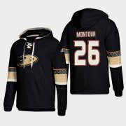 Wholesale Cheap Anaheim Ducks #26 Brandon Montour Black adidas Lace-Up Pullover Hoodie