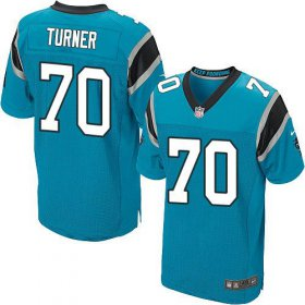 Wholesale Cheap Nike Panthers #70 Trai Turner Blue Alternate Men\'s Stitched NFL Elite Jersey