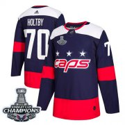 Wholesale Cheap Adidas Capitals #70 Braden Holtby Navy Authentic 2018 Stadium Series Stanley Cup Final Champions Stitched NHL Jersey