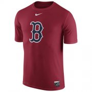 Wholesale Cheap Boston Red Sox Nike Authentic Collection Legend Logo 1.5 Performance T-Shirt Red
