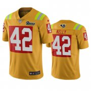 Wholesale Cheap Los Angeles Rams #42 John Kelly Gold Vapor Limited City Edition NFL Jersey