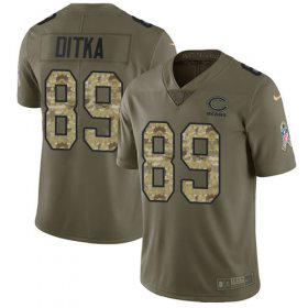 Wholesale Cheap Nike Bears #89 Mike Ditka Olive/Camo Men\'s Stitched NFL Limited 2017 Salute To Service Jersey