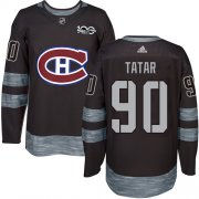 Wholesale Cheap Adidas Canadiens #90 Tomas Tatar Black 1917-2017 100th Anniversary Stitched NHL Jersey